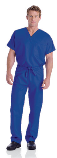 Landau Galaxy Blue Scrubs